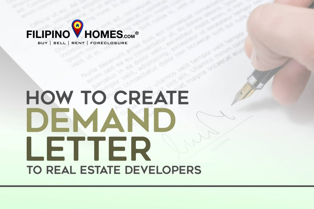 How to create a demand letter to Real Estate Developers
